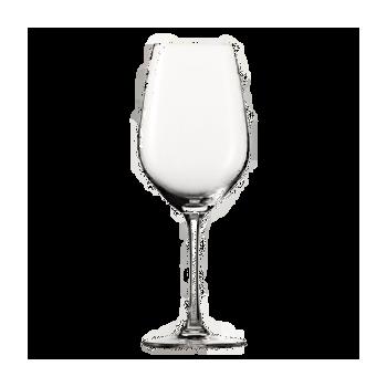 Fles heerlijke Rosa dei Frati in kist, compleet met 2 wijnglazen