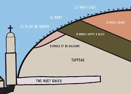Overzicht van de wijngaarden van domaine Huet